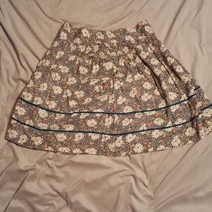 Lux Floral Print Skirt